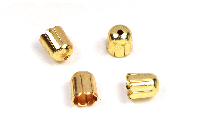 Endkappen 5mm in gold kaufen - Feineperle.at Glasperlen und ...