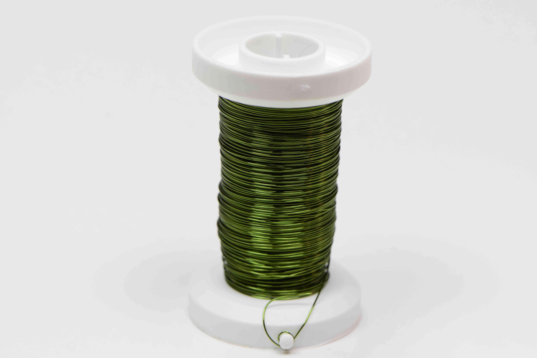 Kupferdraht in oliver Farbe mit 0,30mm Durchmesser - Feineperle.at ...